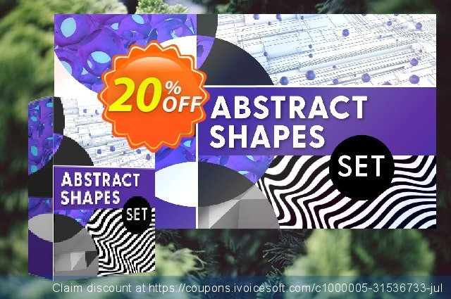 Movavi effect: Abstract Shapes Set discount 20% OFF, 2020 Black Friday offering sales