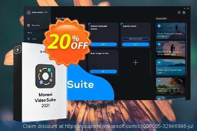 Movavi Video Suite for MAC Business (1 Year License) 特殊 销售折让 软件截图