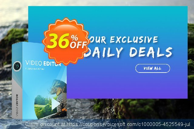 Movavi Video Editor - Business discount 36% OFF, 2019 Halloween offering sales