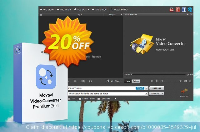Movavi Video Converter Premium discount 20% OFF, 2020 Halloween promo