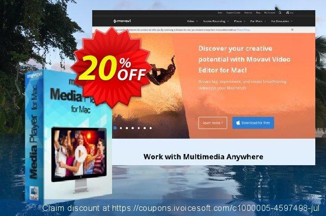 Movavi Media Player for Mac 惊人的 产品折扣 软件截图