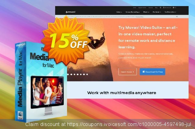 Movavi Media Player for Mac discount 15% OFF, 2020 Black Friday offering sales