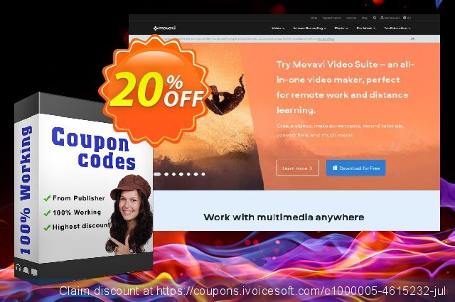Movavi Video Bundle for Mac - Converter Expansion discount 20% OFF, 2020 Back to School shopping promotions