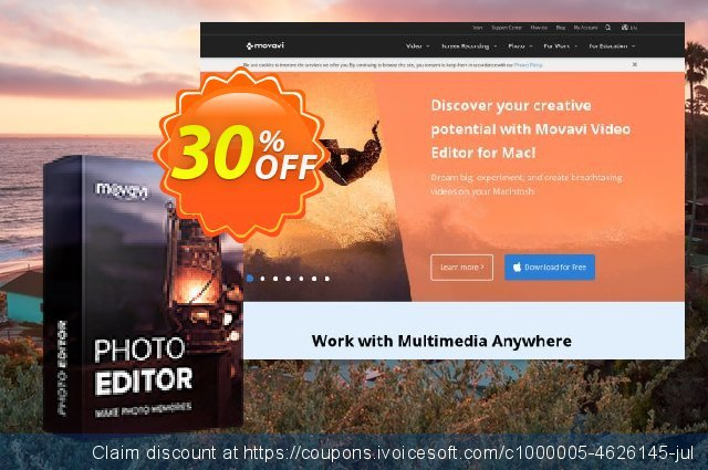 Movavi Photo Editor for Mac discount 30% OFF, 2020 College Student deals offering sales