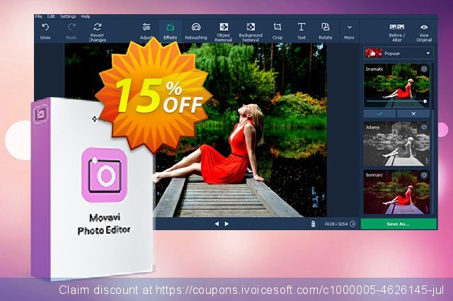 Movavi Photo Editor for Mac discount 15% OFF, 2021  Lover's Day promotions