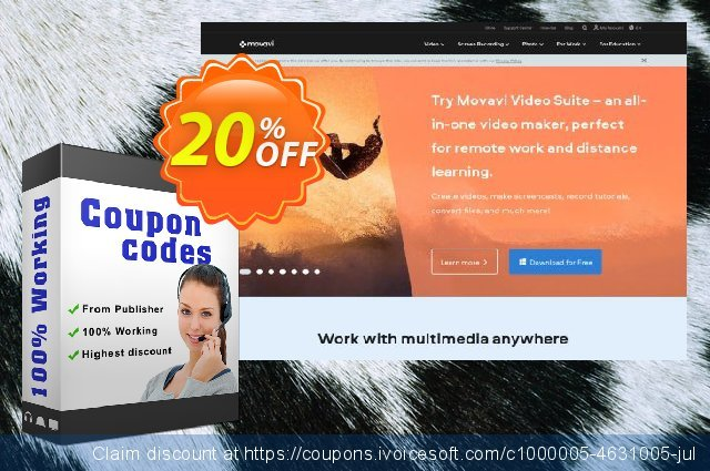 Movavi Super Bundle - Photo Editor Expansion discount 20% OFF, 2020 Back to School offer deals