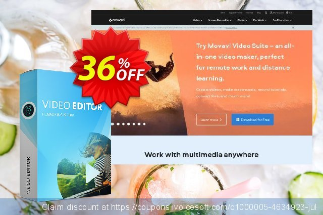 Movavi Video Editor for Mac (Business License) discount 36% OFF, 2021 Oceans Month discount. Movavi Video Editor for Mac – Business Big sales code 2021