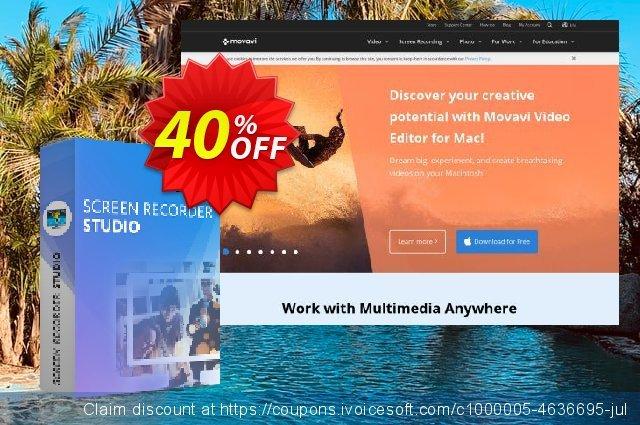 Get 40% OFF Movavi Screen Recorder Studio for Mac discount