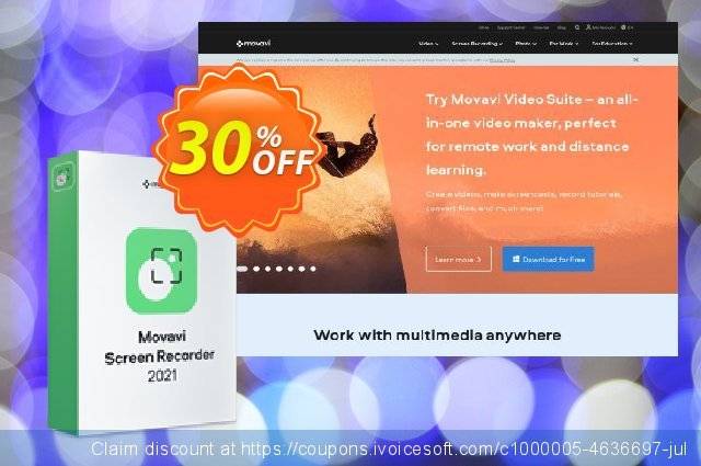 Movavi Screen Recorder for Mac Business Lifetime License discount 20% OFF, 2021 American Independence Day offering sales. Movavi Screen Recorder Studio for Mac – Business Exclusive discount code 2021