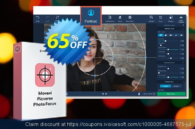 Movavi Photo Focus discount 65% OFF, 2021 New Year's Weekend promotions