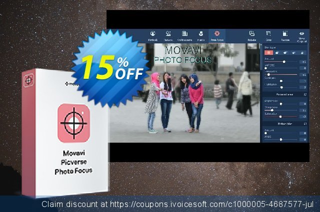 Movavi Photo Focus for Mac - Business discount 15% OFF, 2020 Thanksgiving offering sales