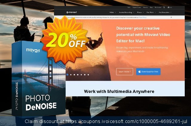 Movavi Photo DeNoise discount 16% OFF, 2020 Spring offering sales