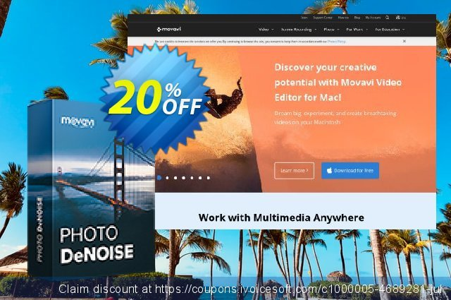 Movavi Photo DeNoise - Business 可怕的 产品销售 软件截图