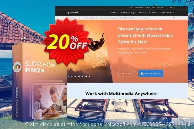 Movavi Slideshow Maker for Mac - Business 惊人的 促销 软件截图