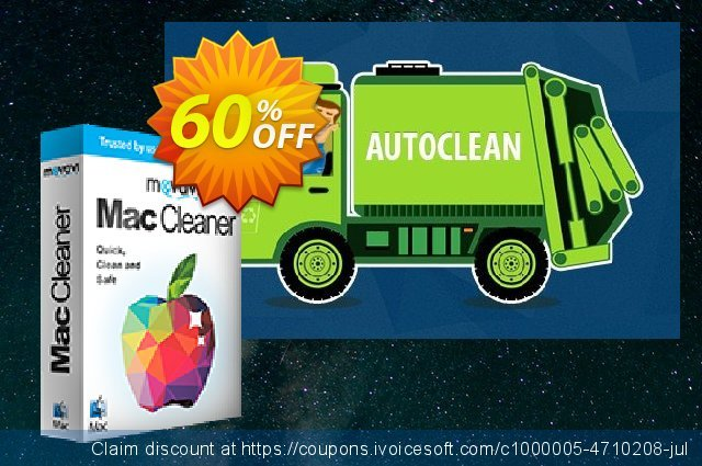 Movavi Mac Cleaner for 3 Macs discount 60% OFF, 2020 College Student deals offering sales