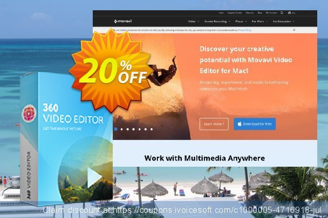 Movavi 360 Video Editor - Business discount 20% OFF, 2020 Exclusive Student deals offering sales