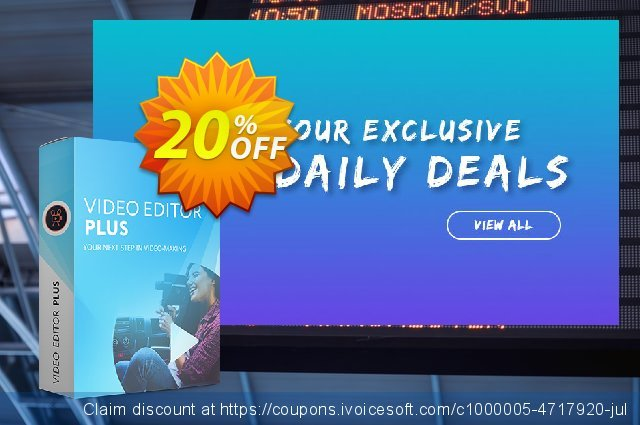 Movavi Video Editor Plus discount 41% OFF, 2020 Back to School event offering sales