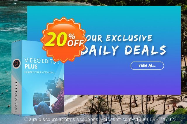 Movavi Video Editor Plus - Business discount 20% OFF, 2020 4th of July offering sales