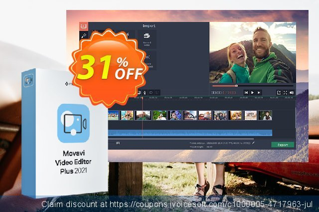Movavi Video Editor Plus for Mac discount 31% OFF, 2021 Spring offering sales