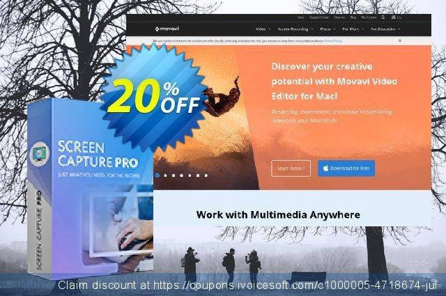 Movavi Screen Capture Pro for Mac - 1 license  최고의   가격을 제시하다  스크린 샷