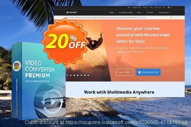 Movavi Video Converter Premium for Mac - Lifetime Business 令人难以置信的 产品销售 软件截图