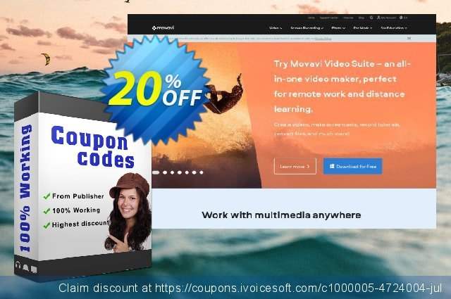 Movavi Photo Bundle: Photo Editor + Slideshow Maker for MAC discount 20% OFF, 2020 College Student deals offering sales