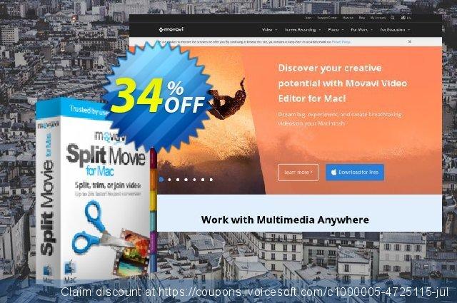 Movavi Split Movie for Mac - 3 Licenses  대단하   프로모션  스크린 샷