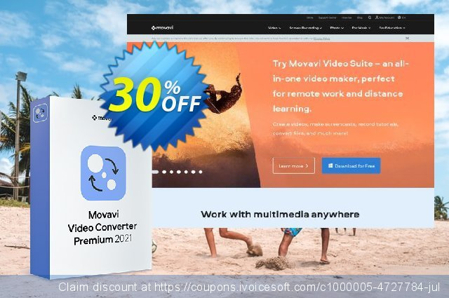 Movavi Video Converter Premium Business – Annual Subscription 惊人 产品销售 软件截图
