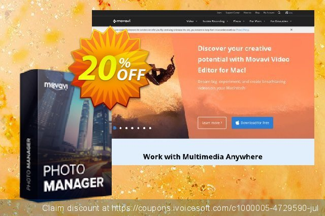 Movavi Photo Manager for Mac discount 20% OFF, 2020 College Student deals offering sales