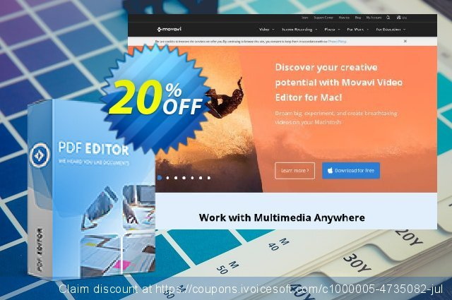 Movavi PDF Editor for Mac - 1 Year  굉장한   할인  스크린 샷