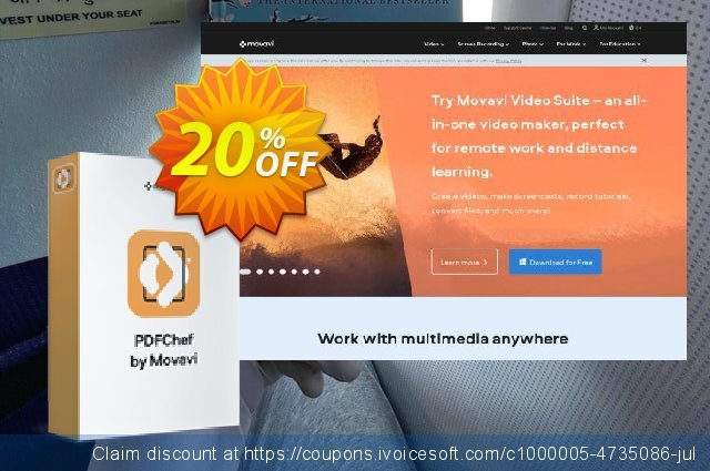 Business Bundle: Movavi PDF Editor + Screen Capture Pro (for MAC) 令人惊讶的 优惠码 软件截图
