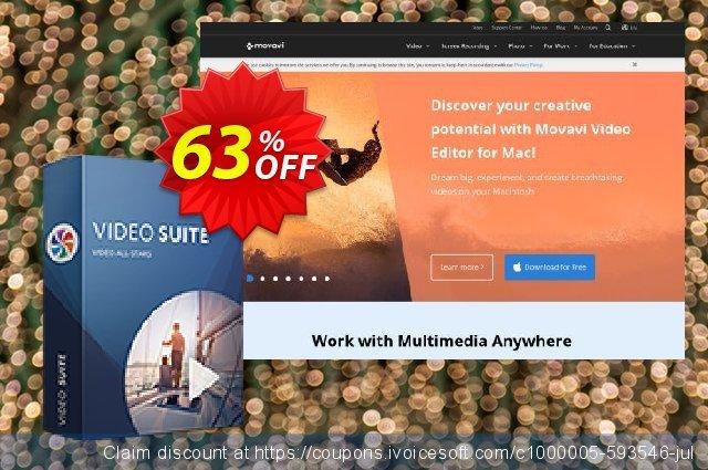 Get 57% OFF Movavi Video Suite offering sales