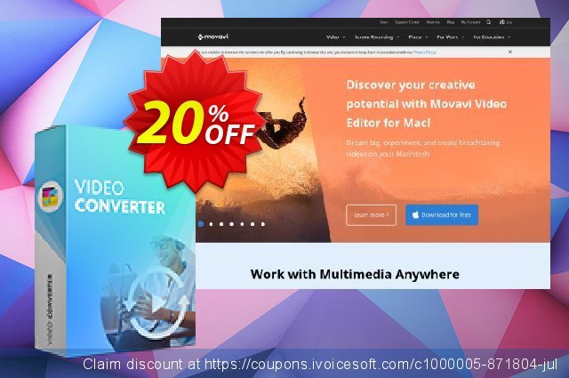 Movavi Video Converter  Premium (Business)  특별한   촉진  스크린 샷
