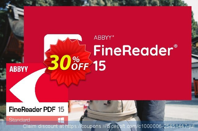 ABBYY FineReader 15 Standard discount 10% OFF, 2020 Spring sales
