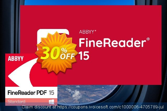 ABBYY FineReader PDF 15 for Windows discount 10% OFF, 2020 July 4th offering sales