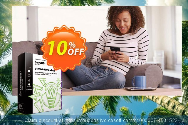 Dr.Web Anti-Virus discount 10% OFF, 2021 Handwashing Day offering sales. Home products (Dr.Web Anti-Virus) big discount code 2021