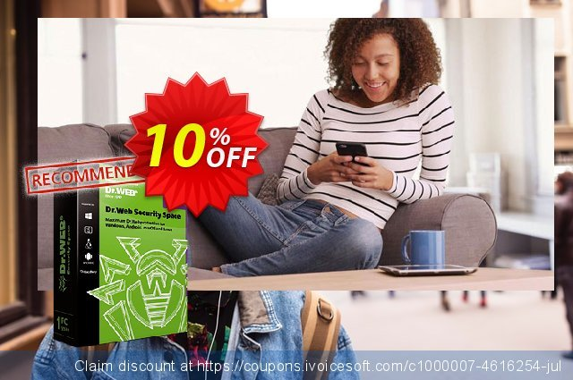 Dr.Web Security Space (Without Technical support) discount 10% OFF, 2021 National No Bra Day promo sales. Dr.Web Security Space without technical support big sales code 2021
