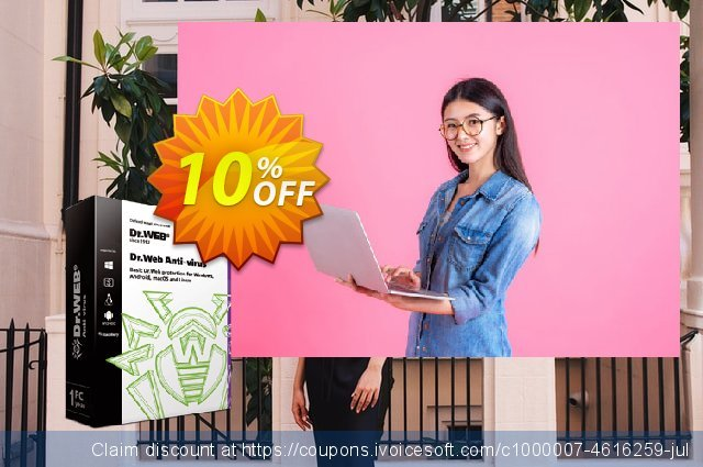 Dr.Web Anti-Virus (without Tech support) discount 10% OFF, 2021 All Hallows' evening offering sales. Dr.Web Anti-Virus without technical support wonderful discounts code 2021