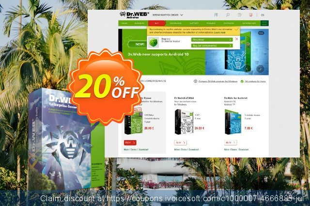 Dr.Web Universal Bundle Enterprise 5-50 PC Up To 3 years discount 20% OFF, 2019 Thanksgiving Day offering discount