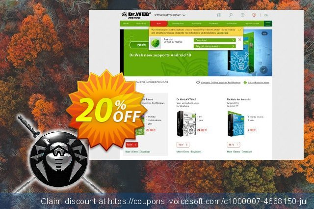 Dr.Web Katana discount for 3 Year discount 20% OFF, 2020 Working Day offering sales