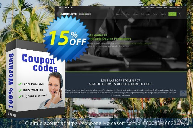 Absolute Home and Office - Premium (Mobile) discount 15% OFF, 2020 College Student deals offering sales