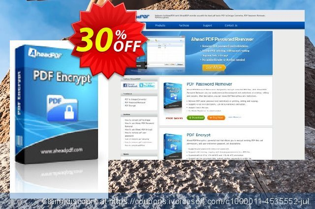 Ahead PDF Encrypt - Multi-User License (10 Users) discount 30% OFF, 2021 New Year offering sales