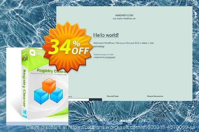 Get 34% OFF Amigabit Registry Cleaner offering sales