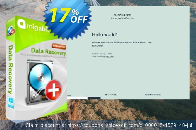 Amigabit Data Recovery Enterprise discount 17% OFF, 2021 Mother Day offering sales. Save $50