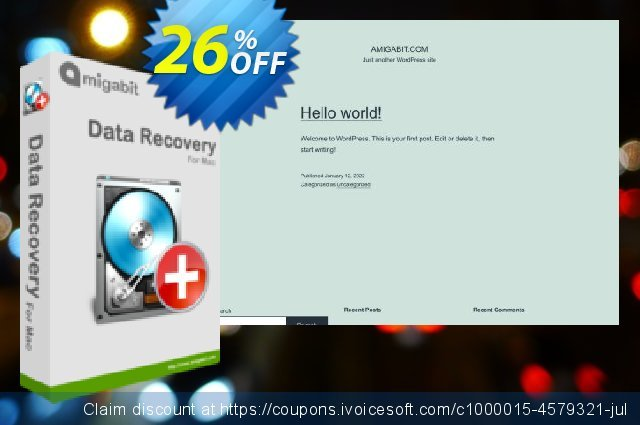 Amigabit Data Recovery for Mac discount 26% OFF, 2021 January promo sales