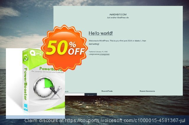 Amigabit PowerBooster discount 50% OFF, 2020 Back to School season offering sales