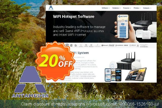 Special Bundle - Internet Cafe Software - Standard Edition (30 Clients) & Antamedia HotSpot - Premium Edition & HotSpot Operator License & Credit Card Supp超级的产品销售 软件截图