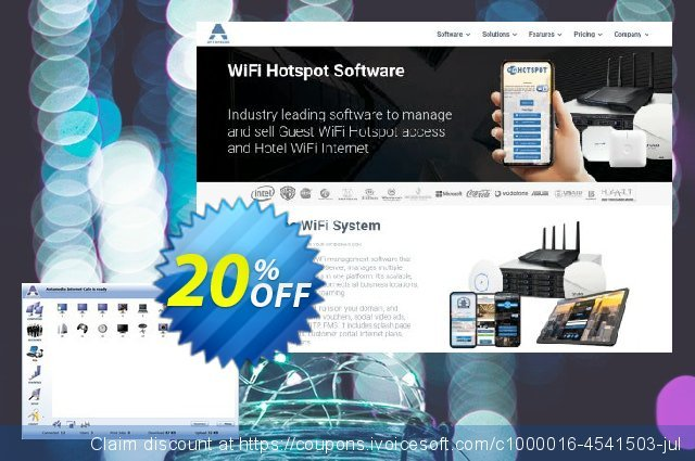 Antamedia Internet Cafe Premium - Server with 5 Clients discount 20% OFF, 2021 Happy New Year offering sales