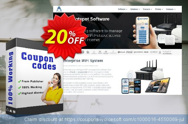 Antamedia Hotspot Enterprise with Premium Support and Maintenance (1 Year) discount 20% OFF, 2020 Christmas Day discount