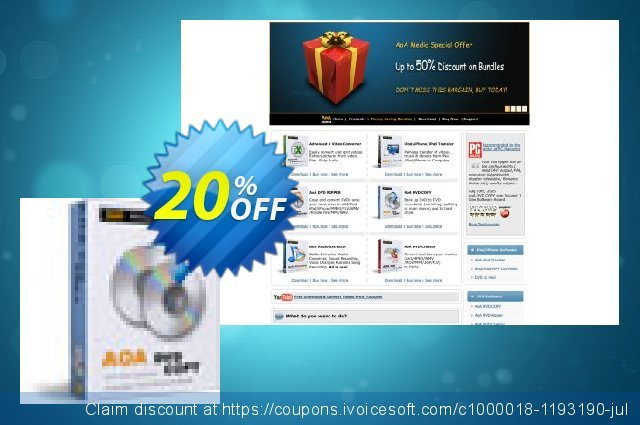 AoA DVD COPY discount 20% OFF, 2020 Back to School promo offering sales